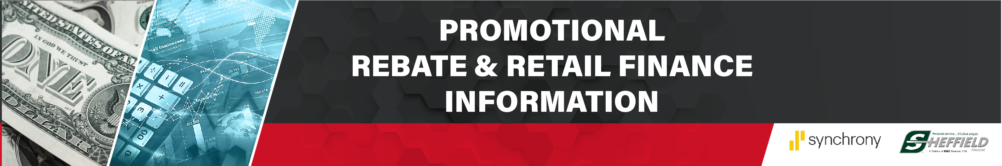 Promotional Rebate and Retail Finance Information